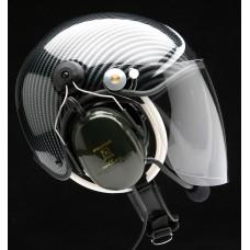 UL TZ, XL, Carbon optik, transparentní hledí, sluchátka 3M X5 šedá, s rotorem